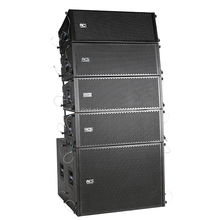 Dual 10 Inch line array speakers subwoofer