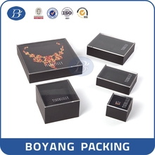 factory direct manufacture luxury high quality end window box packaging
