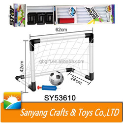 Indoor sport toy plastic football goal soccer training set with ball