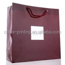 UV gold stamping printed paper shopping bag ,luxury kraft paper shopping bag