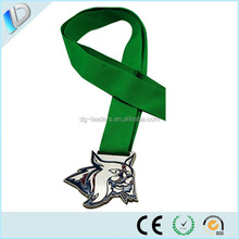 Factory price new make metal medals and trophies with ribbon