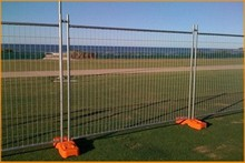 Trade assurance Galvanized 2100*2400mm temporary panel fence/ Silver color Newsland temporary fen