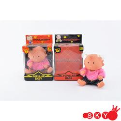 2015 Custom cute little girl lovely doll for baby gift box