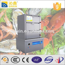 Stainless steel 380V energy-saving bun steamer for fresh seafood/commercial steamer
