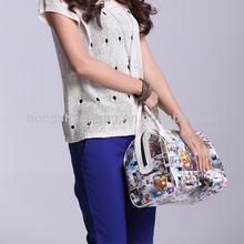 coated canvas printed handbag for yong girls casual handbags,Taccu TH1202