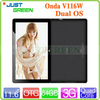 Onda V116W Tablet 3G Win8 Support Internet, Android Support Phone Call and Internet Single Micro SIM