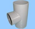 iso9001 de alta calidad de pvc reducción de tee
