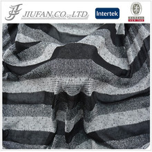 Jiufan Textile 2015 Polyester Spandex Cut & Sew Yarn Dyed With Lurex Fabric For Garment