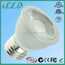 High Quality Super Bright White 3000k 85-265V AC 5W E27 LED spotlight E26 Base With PSE