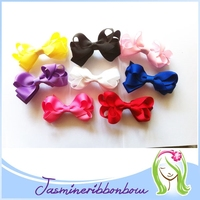 Infant Hair Bow clip,Newborn Girls Small Tiny Little Baby Bows, Printed Ribbon Hair Clip Hairbows