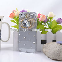 FL2663 Guangzhou hot sellin 3D luxury crown crystal diamond bling case cover for iphone 5