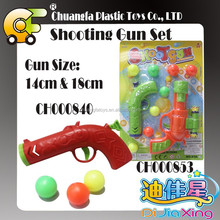 Plastic shooting ball games pingpong ball toys gun for kids