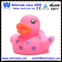 Promotional rose pink duck baby bath toy