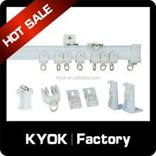 Kyok haste de cortina dupla e acessórios de cortina haste fábrica trilho de cortina de alumínio cortina de chuveiro rail