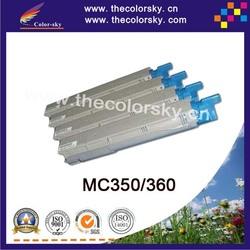 (CS-OC350) Color toner laserjet printer laser cartridge for OKI MC 350 360 43459376 43459375 43459374 43459373 (2.5k/2.5k pages)