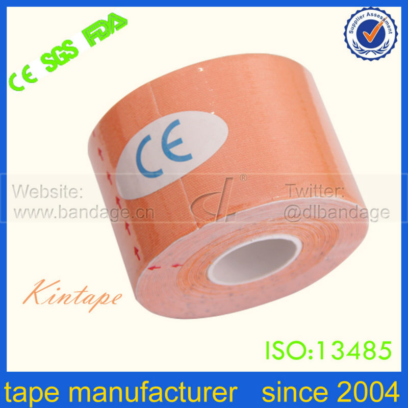 Хлопок оранжевого Kinesio лента с CE, FDA, ISO сертификат