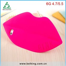 Fashion Rubber Colorful Case For iPhone 6 Womens Mobile Phone Soft Protective Case