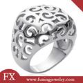 china fornecedor de flor de aço inoxidável oco forma de anel de prata