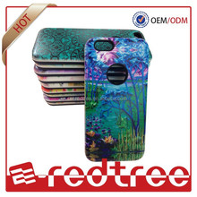 slim armor case color oil printing tpu+pc mobile back cover for iphone 6 4.7inch