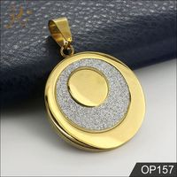 Wedding Dress Gold Plated Coin Pendant