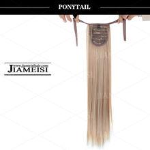 niñas ponytail extensiones del pelo, cola de caballo afro, yaki coleta de cabello humano