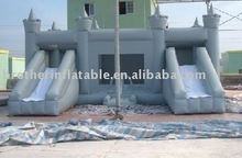 2012 cheap and fine inflatable combo house with double slide