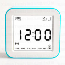 best selling indoor thermometer clock in japan, big clock digital date from promotional company