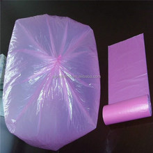 Factory price pink disposable star-sealed rubbish bag on roll,tough and cheap