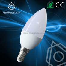 3.5W energy saving with tail led candle bulb light e14, led candle light 3w Led Lamp E14 C37 Candle Light