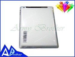 Wholesale High Quality replacement back cover for ipad 3, for ipad 3 back cover 3G and WiFi version