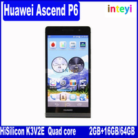 Original Huawei P6 huawei 2GB RAM Android 4.2 Quad Core K3V2E 1.5GHz 4.7'' IPS 1280*720 pixels 8.0MP Mobile phone