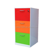 Factory direct sale furniture 3 drawer vertical file cabinet/ colorful filing cabinet