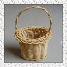plastic rattan mini hanging soap basket wholesale
