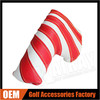 2015 New Custom Golf Putter Covers - White & Red Stripe Leather Magnetic Putter Golf Headcover