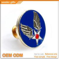 custom wing design metal insignia pin badge