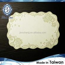 Premium Wrinkle Free Green Lace Table Mat