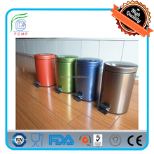 fashionable 30L stainless steel mirror or carbon steel powder coating recycling dustbin