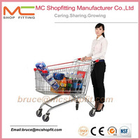 Trolley supermarket plastic cart,costco shopping cart,manufacture shopping trolley