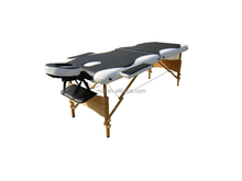 2 section mixed colours portable wooden massage tables