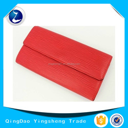 Authentic Epi Leather Red Clutch Bifold Purse Wallet