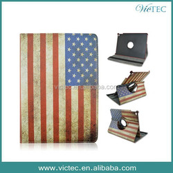 USA Flag 360 Rotary Leather Promotion Gifts Case for iPad Air 2