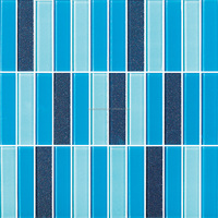 300x300mm grid blue sea wall/floor fish scale mosaic tile