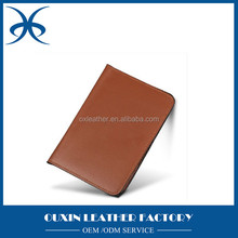 Hot sale travel organizer tickets & cheque & passport book / fake passport cover / leather passport cover