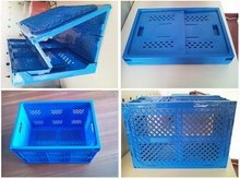 collapsible storage tool plastic boxes folded hard storage cases foldable plastic vegetable boxes