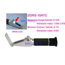 Hand held lighted salinity aquarium refractometer Specific gravity: 1.000-1.070sg ZGRS-10ATC