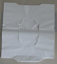disposable paper toilet seat cover with double size adhesive tape