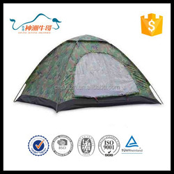 ISO 9001 Standard with Wind-break Ropes and Pegs Folding Camping Outdoor Tent