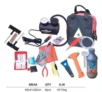 High quality hand tools type repair kit car emergency kit 21pcs combination kit tire repair tools professional tire repair kits