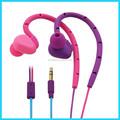 A prueba de agua IPX7 del deporte del silicón diseñadores en la oreja auriculares para iphone4