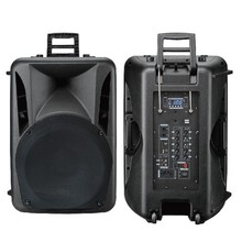 latest best-selling rechargeable multimedia trolley speaker with FM function